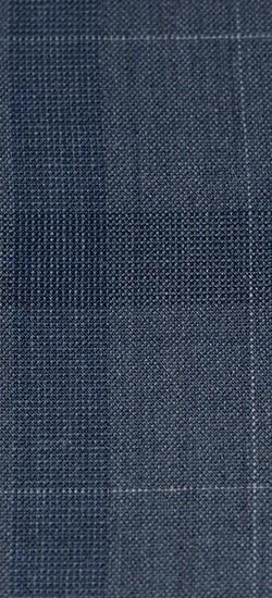 The Eric - Grey & Blue Plaid 2 Piece Custom Suit