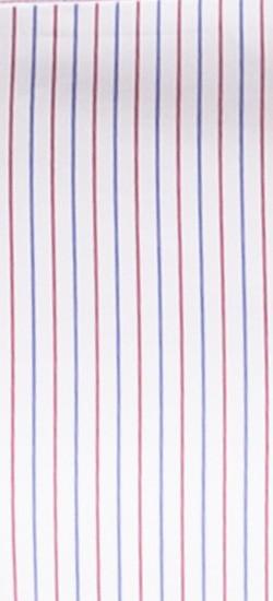 Premium Burgundy Blue Pencil Stripe Custom Shirt