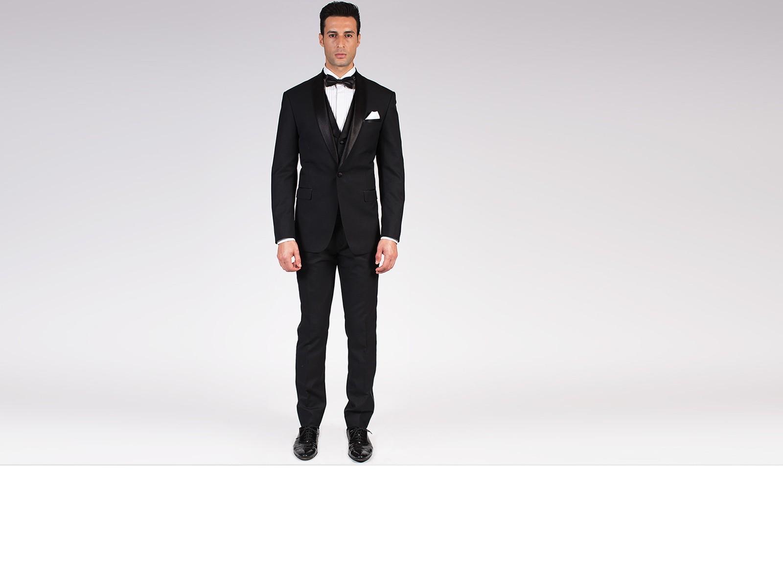 The Dignitary - Black Shawl Collar 3 Piece Custom Tuxedo