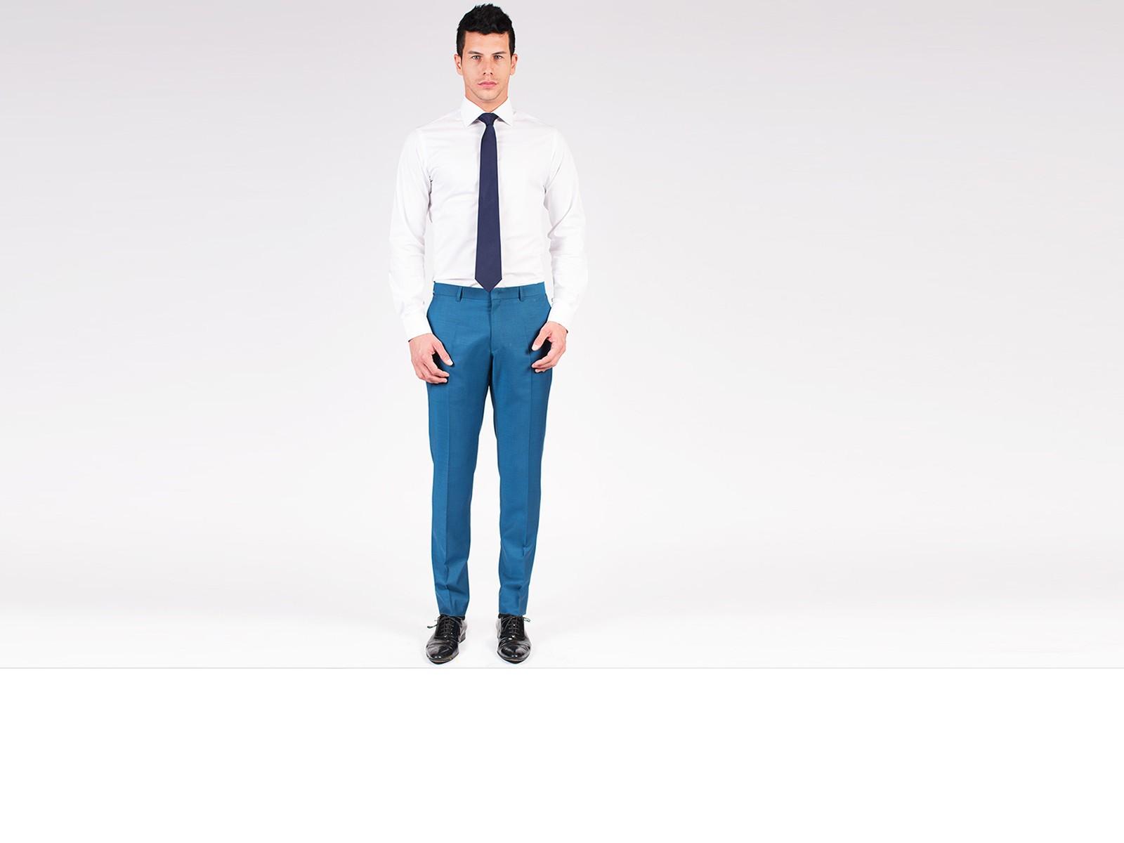 Classic Steel Blue Pants