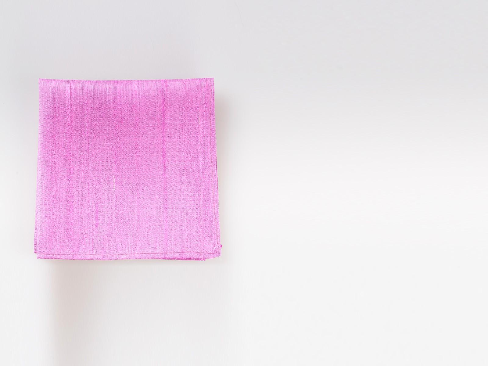Soft Pink Raw Silk Pocket Square