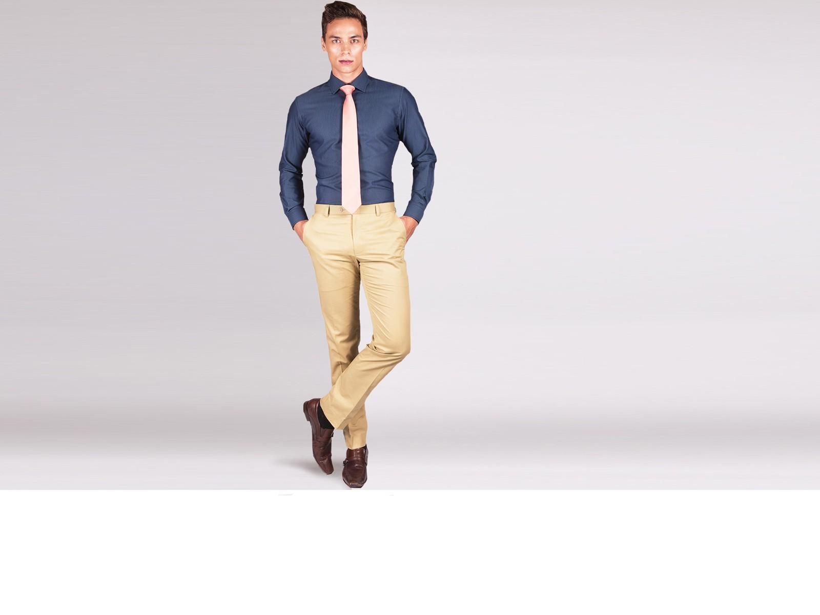 Premium Pinpoint Charcoal Grey Custom Shirt