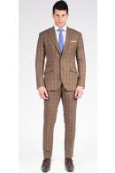 The Karl - Brown Plaid 2 Piece Custom Suit