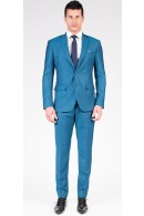 The Sean - Classic Teal Blue 2 Piece Custom Suit