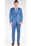 The Aaron - Steel Blue 2 Piece Custom Suit