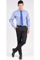 Cobalt Blue Pencil Stripe Custom Shirt