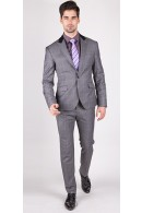The Johnathan - Grey & Purple Window Pane 2 Piece Custom Suit