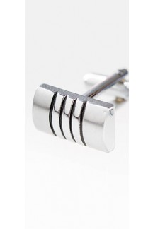Silver Stripe Cufflink