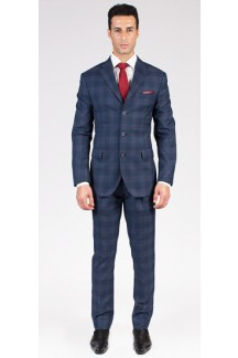 The Glendon - Blue Glen Plaid 2 Piece Custom Suit