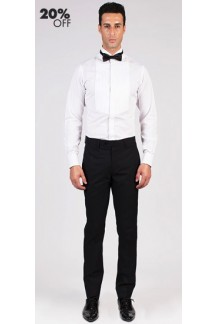 Pleated Bib Front Tuxedo Custom Shirt