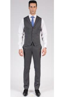 Grey Pinstripe Vest