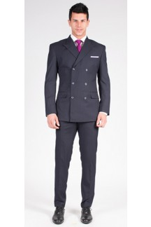 The Daniel - Charcoal Grey Stripe 2 Piece Custom Suit