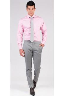 Pink Graph Check Custom Shirt