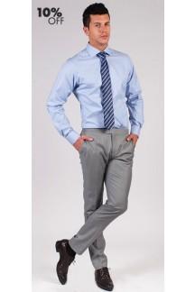 Blue Pin Check Custom Shirt