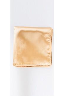 Tan Satin Silk Pocket Square