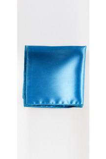 Turquoise Blue Satin Pocket Square