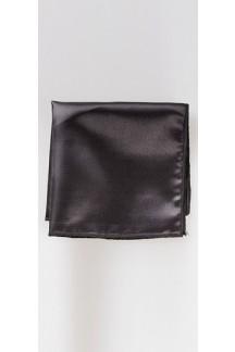 Black Satin Pocket Square