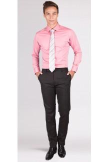 Premium Coral Herringbone Custom Shirt