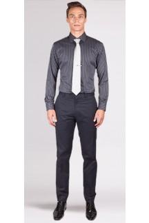 Premium Grey Pencil Stripe Custom Shirt