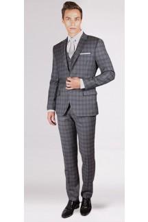 The Thomas Crown - Grey Glen 3 Piece Custom Suit