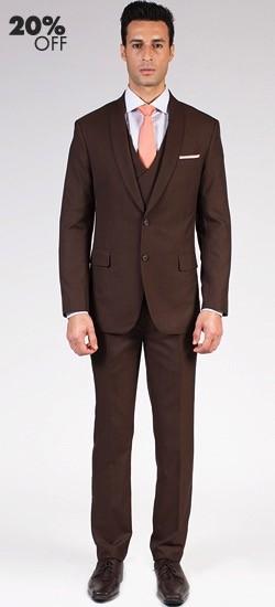 The Landon - Classic Brown 3 Piece Custom Suit