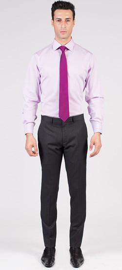 Herringbone Medium Grey Pants