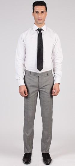Light Grey Prince of Wales Pants