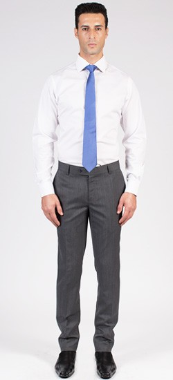 Charcoal Grey Herringbone Pants