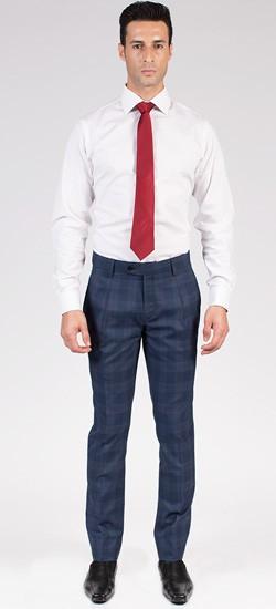 Navy Blue Pinstripe Pants