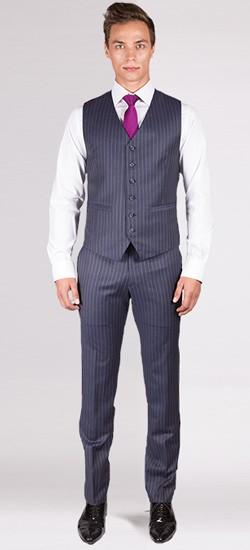 Striped Charcoal Grey Vest