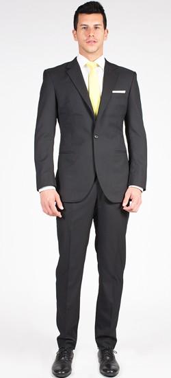 The Executive - Classic Black 2 Piece Custom Suit