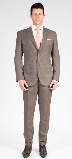 The Rebel - Brown Stripe 2 Piece Custom Suit