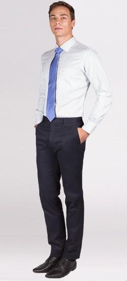 Premium Blue/Green Pencil Striped Custom Shirt