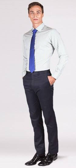 Premium Blue & Yellow Candy Striped Custom Shirt