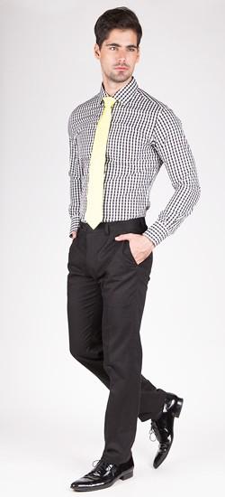 Black Gingham Custom Shirt