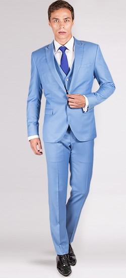 The Brosnan - Sky Blue 3 Piece Custom Suit