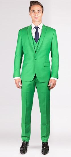The Elton - Lime Green 3 Piece Custom Suit
