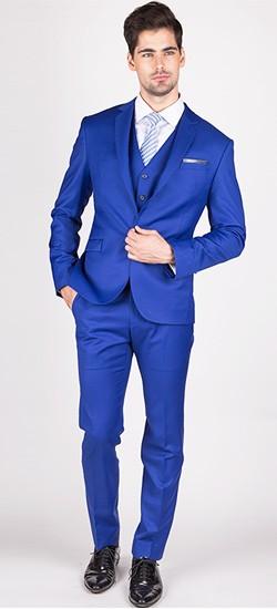 The Clinton - Royal Blue 3 Piece Custom Suit