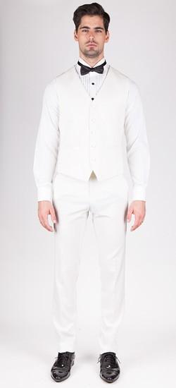 Luxurios White Tuxedo Vest